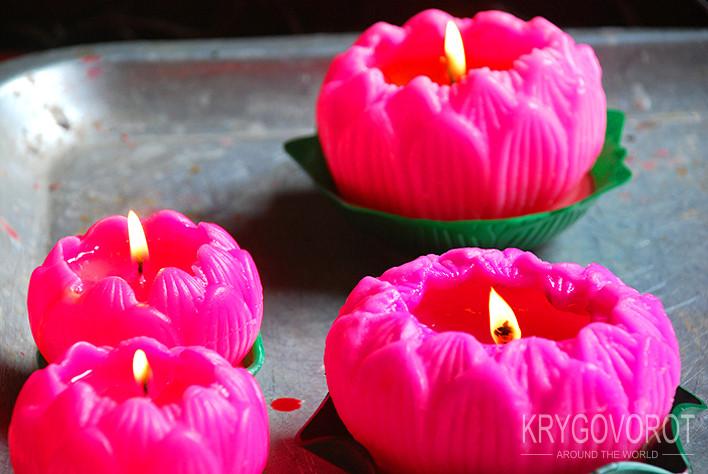 Розовые лампадки